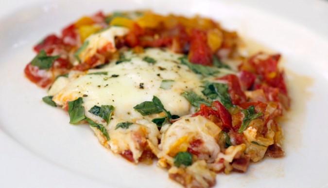 tuscan tomato skillet-brunch-brunch recipe-breakfast idea- vegan recipe -vegetarian breakfast