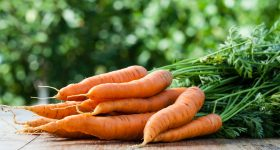 bunched carrots - organic carrots - buy and store carrots - heirloom carrots - harvest = harvesting carrots - cleaning carrots - organic vegetables - organic food